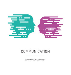 Communication concept with male and female head vector