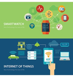 Concepts for smart watch and internet of things vector