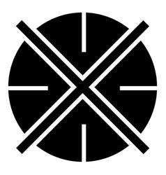 Crosshair icon simple style vector