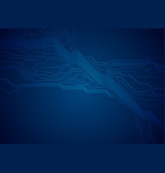 Dark blue circuit board technology futuristic vector