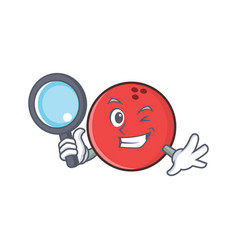 detective bowling ball character cartoon vector image