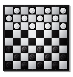 Draughts board vector