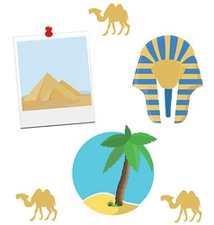 Egypt icon set vector