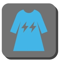 Electric energy girl dress rounded square button vector