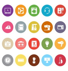 Electrical machine flat icons on white background vector