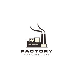 Factory building logo design modern industrial vector