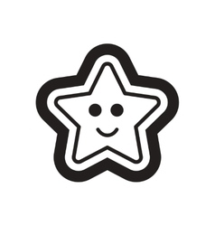 Flat icon in black and white Christmas cake vector