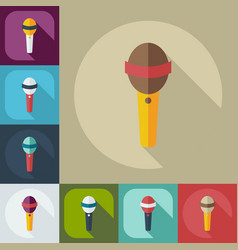 Flat modern design with shadow icons microphone vector