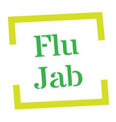 Flu jab stamp on white vector