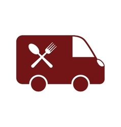 Food delivery vehicle vector image