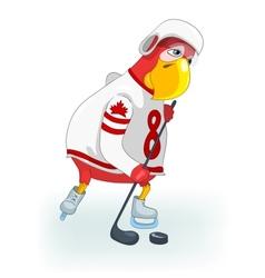 Funny Parrot Hockey vector image