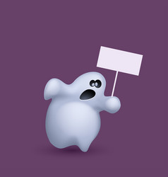 Ghost with board vector