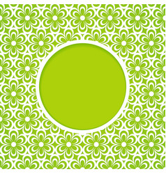 green frame with a flower pattern vector image
