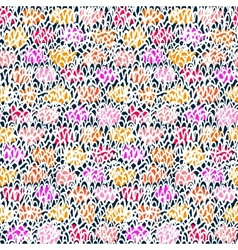 Hand drawn pattern with short brush strokes vector image