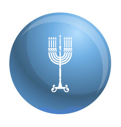 Hanukkah candle stand icon simple style vector