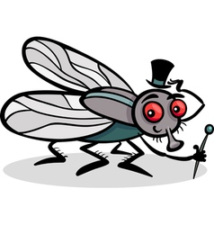 housefly insect cartoon vector image vector image