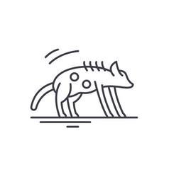 hyena line icon concept hyena linear vector image