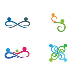 Infinity people adoption and community care logo vector