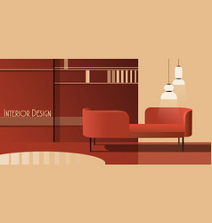 Interior abstract background mockup vector