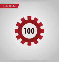 Isolated chip flat icon poker element can vector