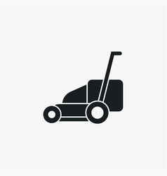 Lawn mower icon simple gardening element symbol vector