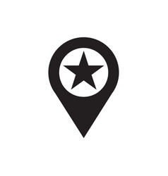 location - black icon on white background vector image