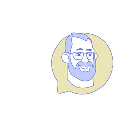 male head chat bubble profile icon man avatar vector image