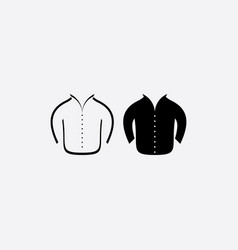 man jacket icon symbol vector image