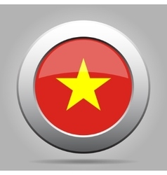 metal button with flag of Vietnam vector image