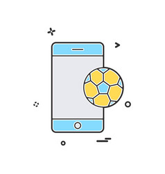 mobile football icon design vector image