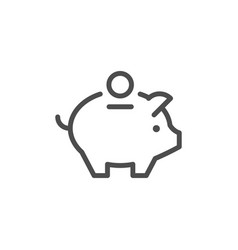 Money box line icon vector