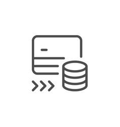 money transfer line icon vector image