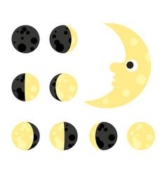 Moon astrology star night space sky cartoon vector