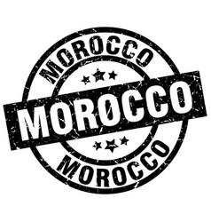 Morocco black round grunge stamp vector