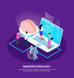 Nano technology isometric gradient background vector