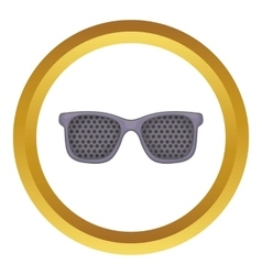 Perforating glasses icon vector