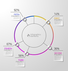 Pie chart infographics element vector image