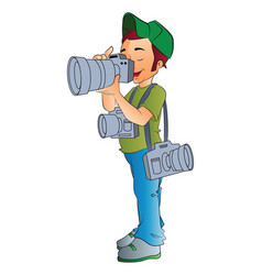 professional photographer vector image