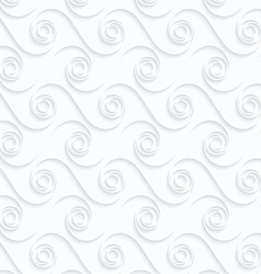 Quilling paper winging spirals in row vector