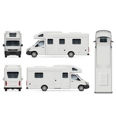 Recreational vehicle on white background vector
