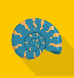 Round shell icon flat style vector