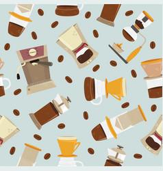 Seamless pattern alternative coffee vector