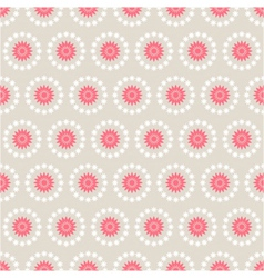 Seamless pattern of abstract flowers vector