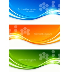 set colourful banners vector image