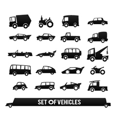 Set of vehicles Cars icons set Transport icons vector