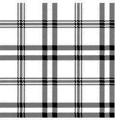Simple black white check plaid seamless pattern vector