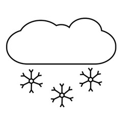 snowing icon vector image