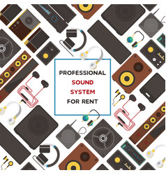 sound system seamless pattern audio vector image