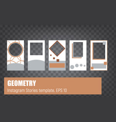 Stories template set geometry vector