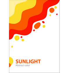 summer abstract cover with bright colorful sun and vector image